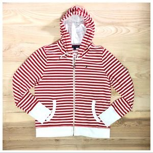 TOMMY HILFIGER NAUTICAL STRIPE FRENCH TERRY HOODIE